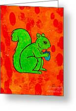 Andy's Squirrel Green Greeting Card