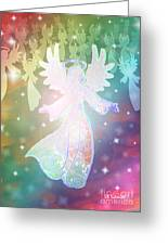 Angel Announcement 2 Greeting Card