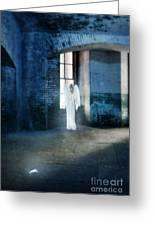 Angel At Window Greeting Card