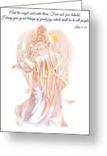 Angel Christmas Card Greeting Card