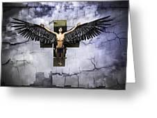Angel Cube Greeting Card