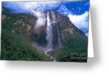 Angel Falls In Canaima National Park Venezuela Greeting Card