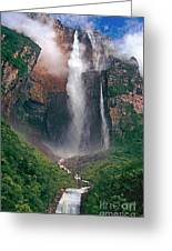 Angel Falls In Venezuela Greeting Card