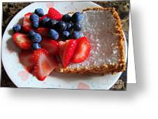 Angel Food And The Berries Greeting Card