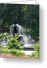 Angel Fountain Nyc Greeting Card