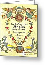 Angel Fraktur Painting Greeting Card