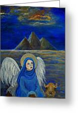 Angel From Eygpt Called Lapis Lazueli Greeting Card