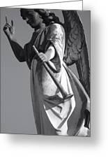 Angel Gabriel With Trumpet Greeting Card