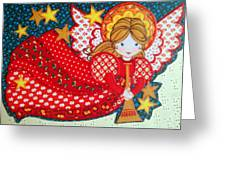 Angel In Red Greeting Card