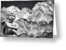 Angel In The Clouds Greeting Card
