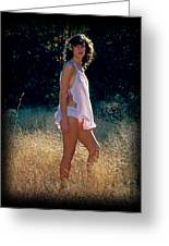 Angel In The Grasses 3 Greeting Card