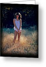 Angel In The Grasses Greeting Card