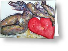 Angel Of Contentment Greeting Card