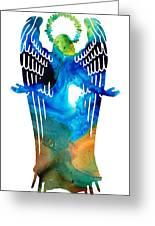 Angel Of Light - Spiritual Art Painting Greeting Card