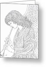 Angel Of Music Greeting Card by Lorraine Foster