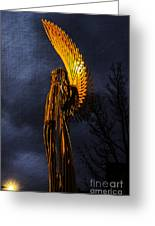 Angel Of The Morning Textured Greeting Card