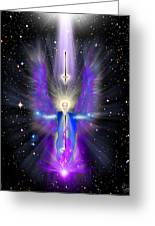 Angel Of The Violet Flame Greeting Card