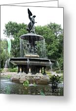 Angel Of The Waters Fountain Greeting Card