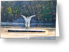 Angel On A Misty Lake  Greeting Card