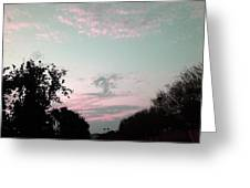 Angel On Pink Cloud Greeting Card