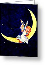 Angel On The Moon Greeting Card