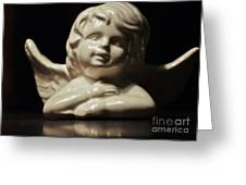 Angel On The Table Greeting Card