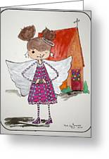 Angel Or- Greeting Card by Mary Kay De Jesus