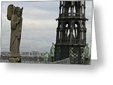 Angel Over Paris Greeting Card