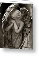 Angel Photography Spiritual Angel  - Guardian Angel In Prayer - Angel Praying  Greeting Card