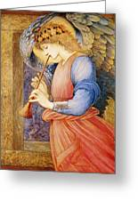 Angel Playing A Flageolet Greeting Card