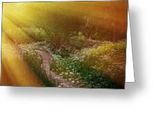 Angel Rays. Follow The Sun Greeting Card