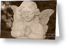 Angel Sepia Greeting Card