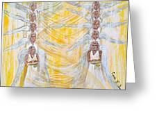 Angel Winds Flames Of Fire Greeting Card