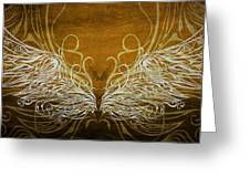 Angel Wings Gold Greeting Card