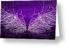 Angel Wings Royal Greeting Card