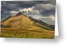 Angelcomb Mountain Lit By Late Greeting Card