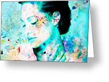 Angelina Jolie Heart And Soul Greeting Card