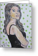 Angelina Jolie Greeting Card