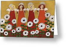 Angels And Dasies Greeting Card