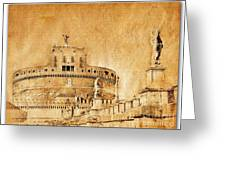Angels Bridge And Castle Greeting Card