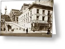 Angel's Flight Railway Los Angeles California  Circa 1908 Greeting Card