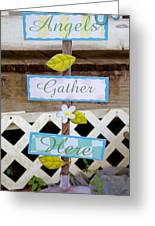 Angels Gather Here Greeting Card