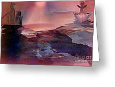 Angels Guarding The Sea Of Heaven Greeting Card