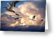 Angels In Flight Greeting Card