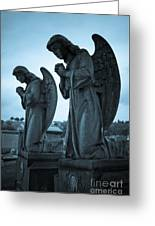 Angels In Prayer Greeting Card
