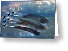 Angels Inna Clouds Greeting Card