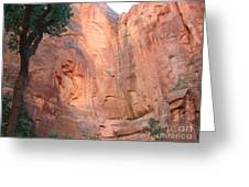 Angels Landing From Valley Greeting Card