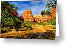Angel's Landing Greeting Card by Greg Norrell