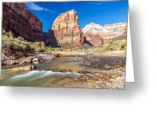 Angel's Landing Zion Utah Greeting Card