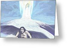 Angels Of Light And Darkness Greeting Card